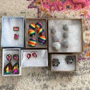 7 costume earrings. New